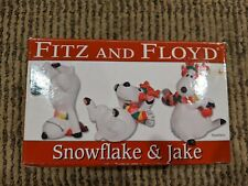 Fitz and Floyd Snowflake & Jake 3 Piece Christmas Reindeer Tumblers with Box