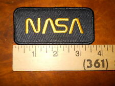 "NASA ""WORM"" INSIGNIA PATCH (BLACK) ( NEW WITHOUT TAGS)"