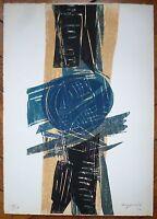 Bozzolini Silvano gravure signée numérotée art abstrait abstraction lyrique
