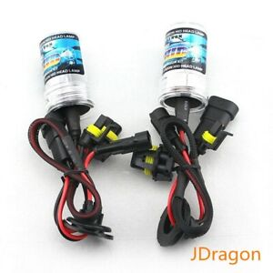 Pair H3 6000K Crystal White 35W Replacement Xenon HID Light Bulbs Fog Lamps