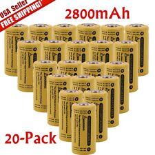 20pcs 16340 Batteries CR123A LR123A 3.7V 2800mAh Rechargeable Li-Ion Battery USA