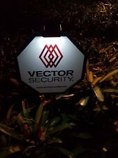 1 -  New  Vector Security Yard Sign w/ 4 Door/Window Deals & Solar Light