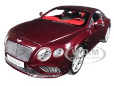 2016 BENTLEY CONTINENTAL GT COUPE BURGUNDY 1/18 DIECAST MODEL BY PARAGON 98221