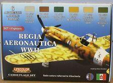LifeColor Acrílicos LC-CS19 Regia Aeronautica Segunda Guerra Mundial (conjunto de pintura italiana Air Force)
