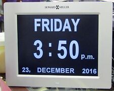 "625-632 NEW HOWARD MILLER TABLE/WALL DIGITAL CLOCK CALLED ""MEMORY"""