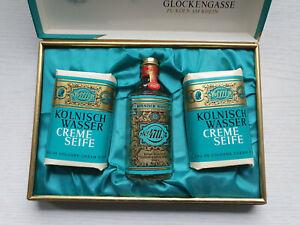 Geschenkpackung 4711 Echt Kölnischwasser Eau de Cologne 55 ccm u. 2 Creme Seifen