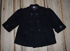 jr EGG BABY by SUSAN LAZAR Boutique WOOL BLEND Coat Size 6 12 Months Navy