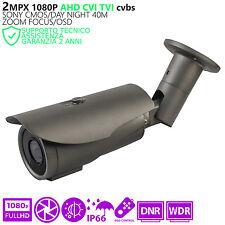 Telecamera AHD CVI TVI Videosorveglianza ZOOM 4X 2 Megapixel 1080p IR SMT LED