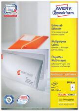 Universal-Etiketten 105 x 148 mm, Menge nach Auswahl, AVERY Zweckform 3483
