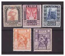Libya 1931 - Pictorial 5 Values Without Filigree - Series New