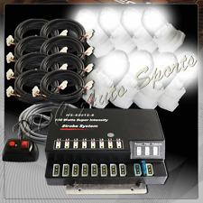 White 160W 8 HID Bulbs Hide A Way Emergency Warning Hazard Flash Strobe Lights 4