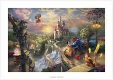 Thomas Kinkade Beauty and the Beast Falling in Love 24 x 36 S/N LE Paper