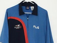 US OPEN 2003 Roddick & Sampras Tennis FILA Polo Men Size Large