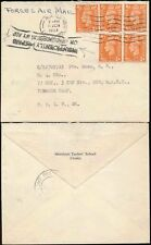 GB FORCES AIRMAIL 5 x 1/2d KG6 to TOBRUCK CAMP...INSUFFICIENTLY PAID FRAMED