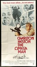 "Original OMEGA MAN 3 Sheet 41 x 81"" CHARLTON HESTON I Am Legend"