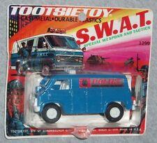 1976 Vintage Tootsie Toy SWAT Police Truck Van Diecast Carded MOC Sealed Boxed