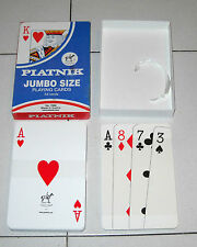 Carte PIATNIK JUMBO SIZE Playing cards 54 carte grandi NUOVO 1399 Poker