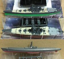 Furuta Battleship WWII Japanese Navy 2 x Yamato, I-58 sub sunk Indianapolis