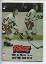 1973/74 Toronto Toros WHA Media Guide