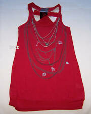 Alice In Wonderland Ladies Red Chain Singlet Size XXS Damaged