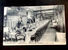CPA. DREUX. 28 - HÔTEL DE FRANCE. La Salle à manger. Restaurant. Intérieur.