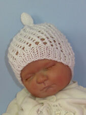 PRINTED INSTRUCTIONS-BABY SIMPLE LACE STITCH TOPKNOT SKULLCAP KNITTING PATTERN