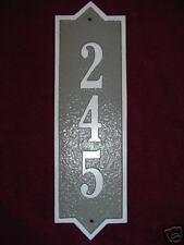 Vertical  Custom Cast Aluminum House Plaque sign