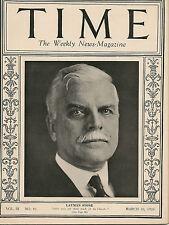 Time Magazine  March 10, 1924  Layman Stone