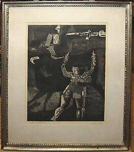Rare '63 Signed  Aquatint Important Spanish Modernist
