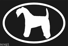 Pair of Kerry Blue Terrier Oval Euro Decal Sticker dogs puppies