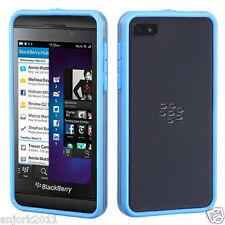 BlackBerry Z10 TPU HYBRID BUMPER ACCESSORY CLEAR BABY BLUE