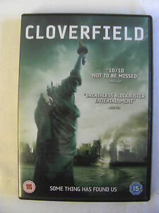 """Ex. Cond. Used Once """"Cloverfield"""" DVD"""