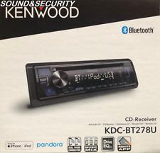 Kenwood KDC-BT278U 1-DIN Car Stereo AM/FM CD Receiver Player with Bluetooth