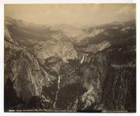 c1865 Albumen Vernal & Nevada Falls, Yosemite Valley, Carelton Watkins Taber