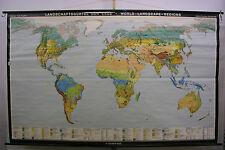 Schulwandkarte schöne alte Weltkarte Landschaft 269x168cm vintage world map 1972