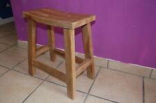 Teak Massiv Holz Hocker Sitzhocker Fußhocker Sitzhocker Otis 40cm x 21cm x 46cm