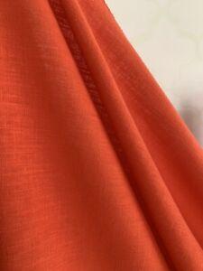 Orange , Tangerine linen fabric
