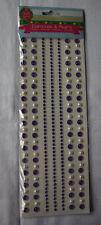 "1 Bogen ""Diamonds & Pearls"", gerage Bordüren lila, The Fun Factory"