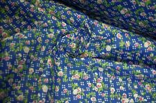 """Quilt Fabric Blue Paisley Floral Print Craft Apparel Upholstery 45""""W #9971B"""