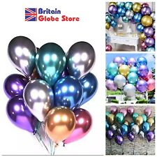 Balloons 12'' Solid Chrome Metallic Globos Wedding Birthday Party  Decorations