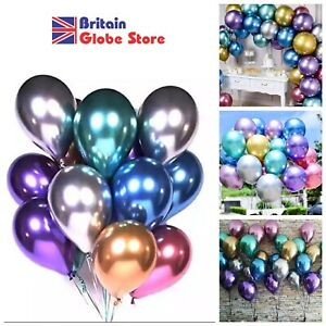 12'' Balloons Chrome Metallic Wedding Birthday Party Decorations 6 - 12 Pieces