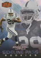 Joseph Addai 2006 Flair Showcase Sideline-Pass ROOKIE Card Colts d#133/199