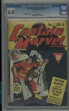 CAPTAIN MARVEL ADVENTURES #7 CLASSIC COVER SHAZAM 1942 CGC 6.0