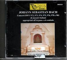 JOHANN SEBASTIAN BACH EDOARDO BELLOTTI ORGANI NUOVA OLANDA CD SEALED