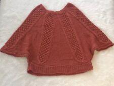 Paul & Joe Sister Orange Wool Blend Rames Knit Batwing Sweater Size 3 US L
