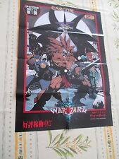 WARZARD RED EARTH CAPCOM CPS 3 III ARCADE B2 SIZE OFFICIAL POSTER!