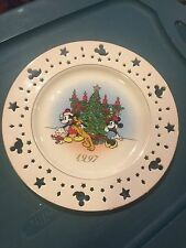 Lenox Disney Mickey Mouse 1997 Collector Plate New w/box Trimming Trio Xmas tree