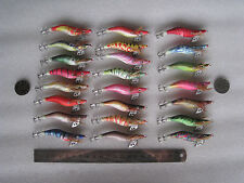 30pcs fishing lure ,squid jigs.2.0# .8cm ,7g, random colour mixed .