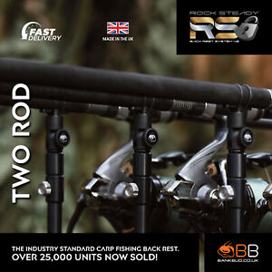 NEW Bank BUG Rock Steady Back Rest System V2 for Carp Fishing TWO ROD PACK