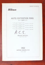 NIKON REPAIR MANUAL FOR AUTO EXTENSION RINGS/90054